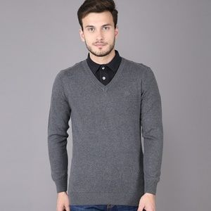 AEROPOSTALE MEN'S V-NECK GRAY SWEATER
